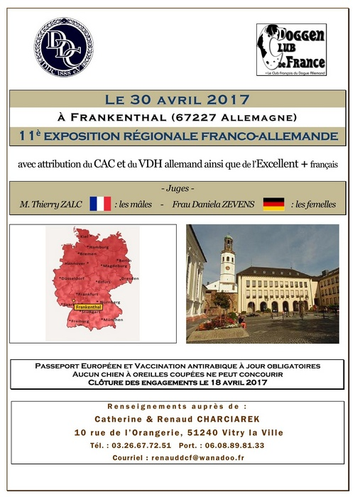 Poster of the 11th french and german dog show 2017 in Frankenthal