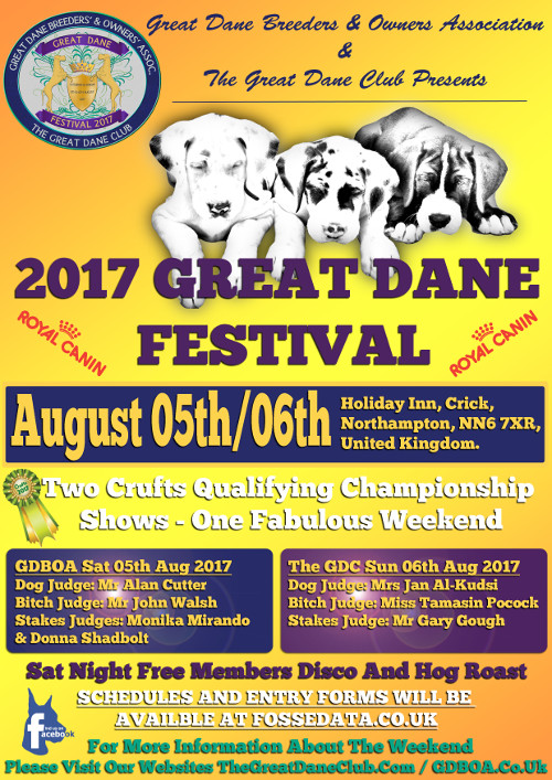 Poster of 2017 Great Dane Festival in Northampton