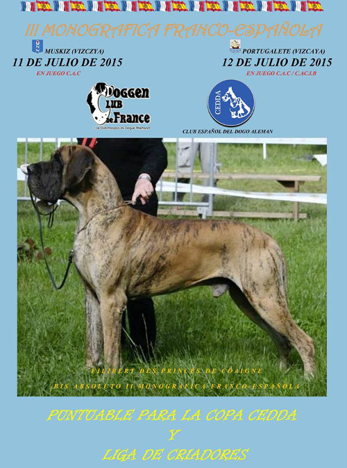poster of the 3rd french and spanish dog show in Muskiz and Portugalete