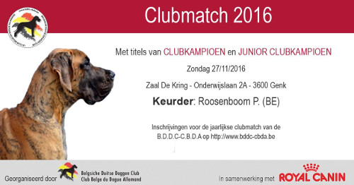 poster of the Clubmatch 2016 in Genk