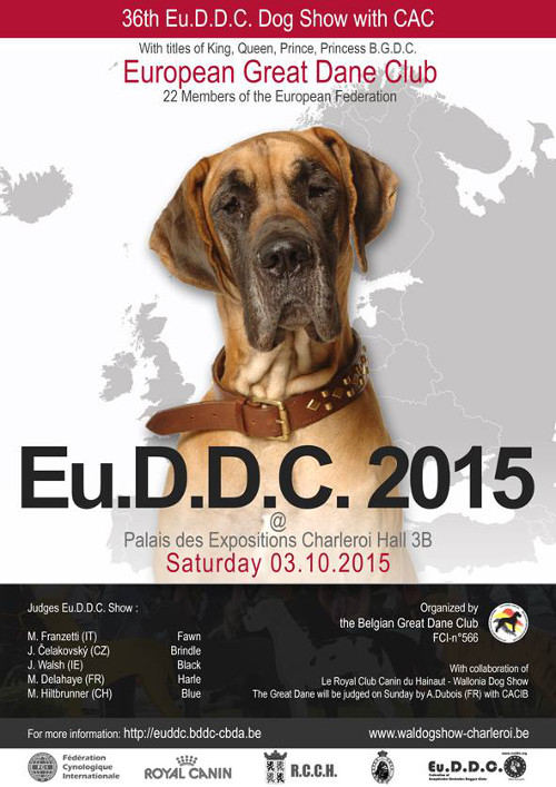 poster of the 36th Eu.D.D.C. dog show in Charleroi