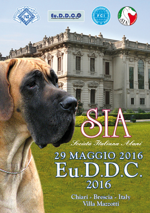poster of the 37th Eu.D.D.C. dog show in Chiari BS