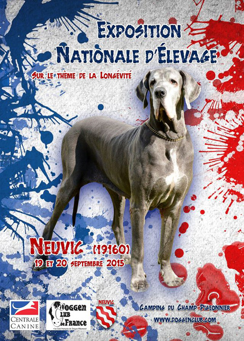 poster of l'exposition nationale d'élevage in Neuvic