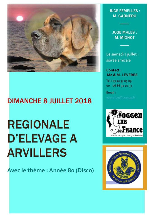 Poster of l'exposition régionale d'élevage in Arvillers 2018
